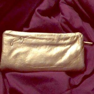 Junior Drake Gold Lambskin Wallet Checkbook